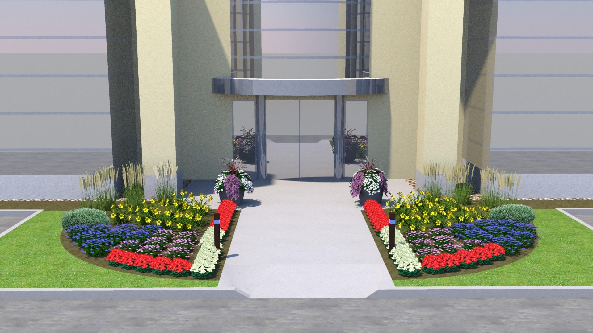 7-1 landscaping design front
