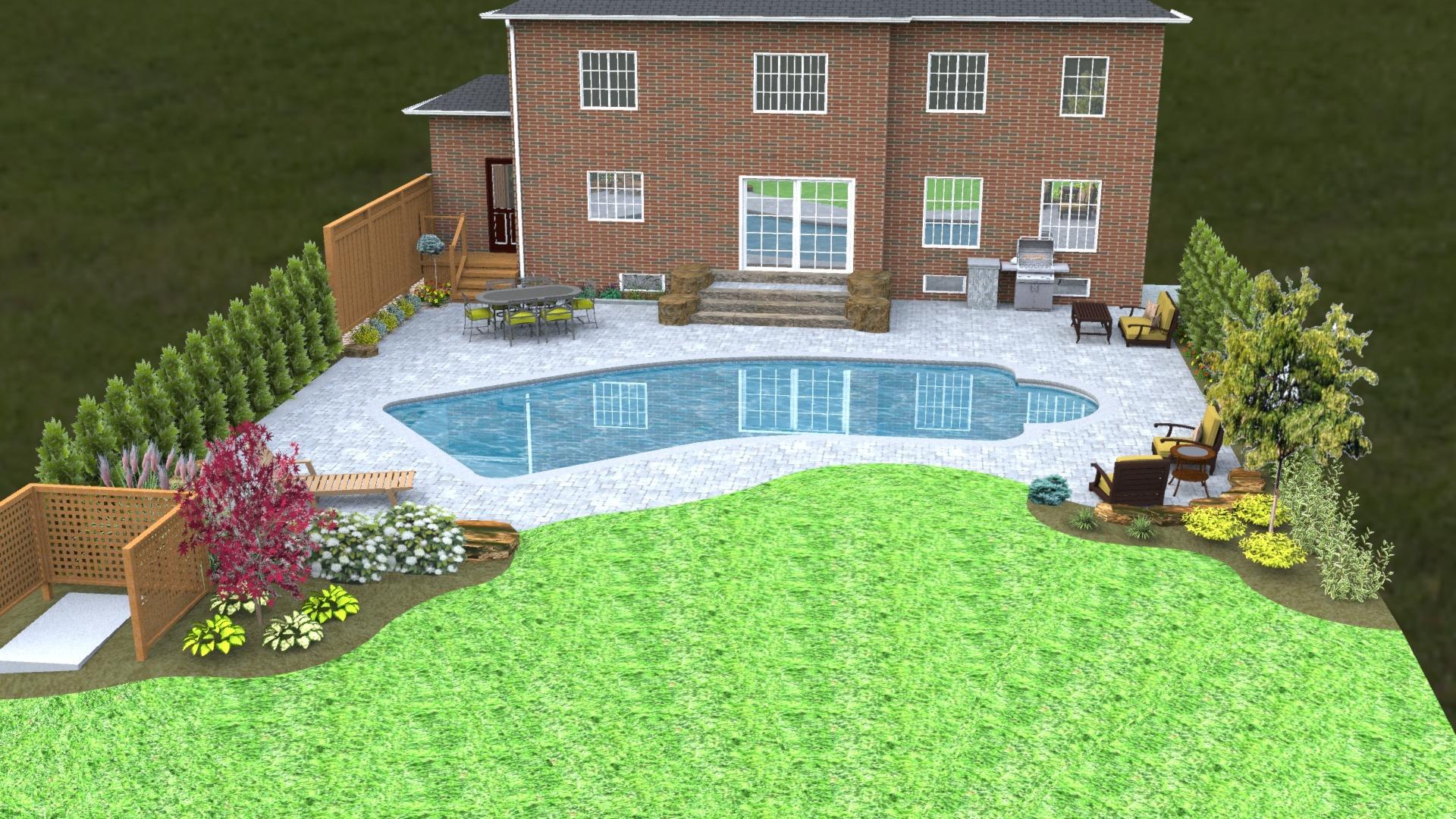 landscape model pool