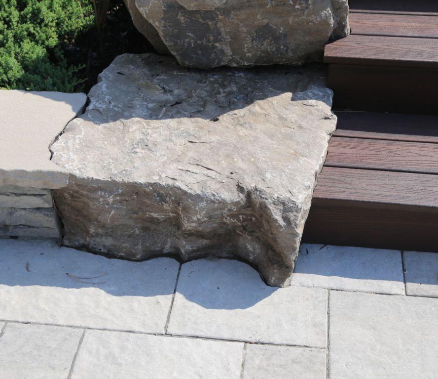 Contour Cutting Around Armour Stone