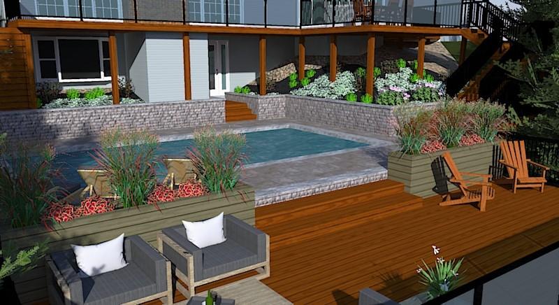 Designing a patio